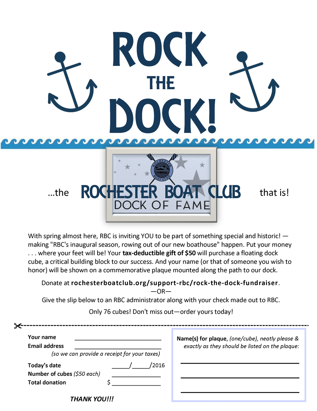 Rock the Dock Fundraiser--flyer